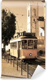 Vinyl Fotobehang Lissabon tram