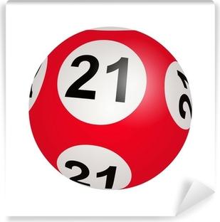 Vinyl Fotobehang Lotto trekking, bal nummer 21