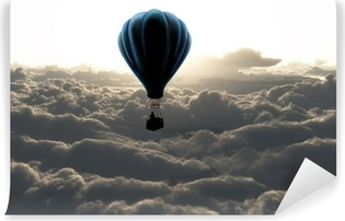 Vinyl Fotobehang Luchtballon boven de wolken