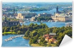Vinyl Fotobehang Luchtfoto panorama van Stockholm, Zweden