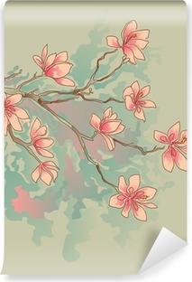 Vinyl Fotobehang Magnolia aquarel