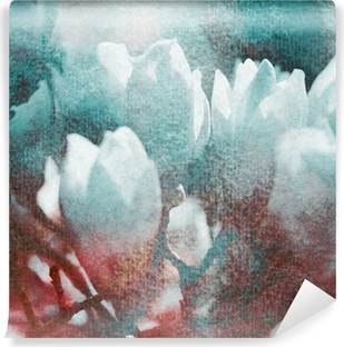 Vinyl Fotobehang Magnolien textur retro