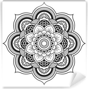 Vinyl Fotobehang Mandala. Rond Ornament Patroon