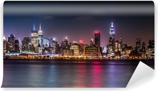 Vinyl Fotobehang Manhattan Panorama tijdens de Pride Weekend