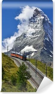 Vinyl Fotobehang Matterhorn trein van Zermatt naar Gornergrat. Zwitserland