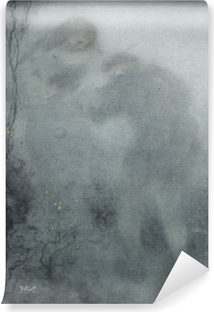 Vinyl Fotobehang Matthijs Maris - Siluety v lese
