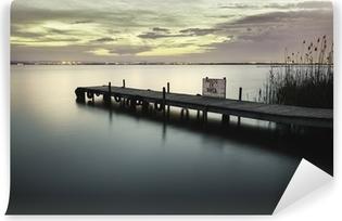 Vinyl Fotobehang Meer van Albufera van Valencia Spanje wetlands in mediterrane