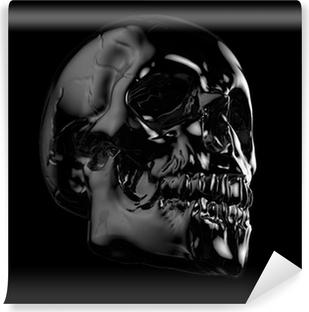 Vinyl Fotobehang Menselijke schedel.