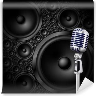 Vinyl Fotobehang Microfoon / luidspreker