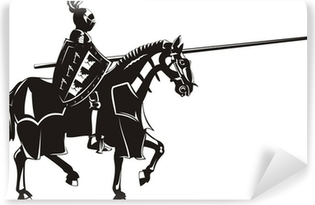 Vinyl Fotobehang Middeleeuwse ridder