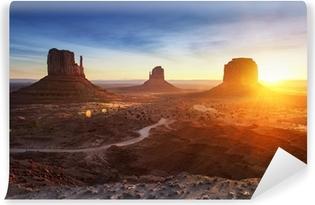 Vinyl Fotobehang Monument Valley bij zonsopgang