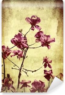 Vinyl Fotobehang Mooie grunge achtergrond met magnolia