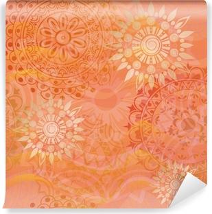 Vinyl Fotobehang Mooie textuur met ornamenten in warme kleuren