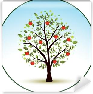 Vinyl Fotobehang Mooie vector appelboom