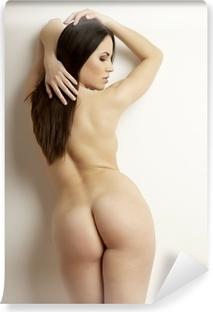 Vinyl Fotobehang Mooie volwassen sensualiteit naakte vrouw