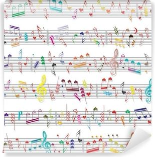 Vinyl Fotobehang Muziek nota geluid textuur