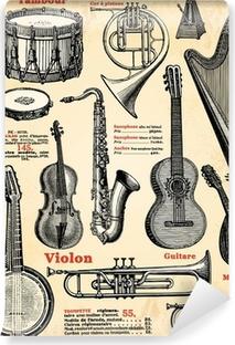 Vinyl Fotobehang Muziekinstrumenten