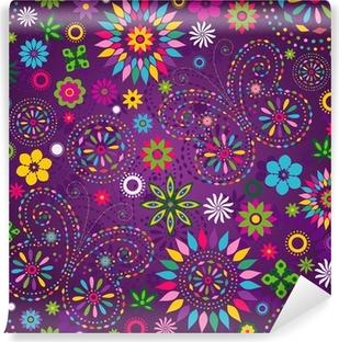Vinyl Fotobehang Naadloze bonte violet patroon