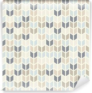 Vinyl Fotobehang Naadloze geometrische patroon in pastel tinten