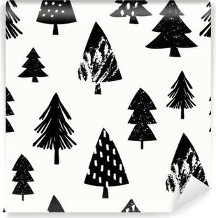 Vinyl Fotobehang Naadloze Kerst patroon