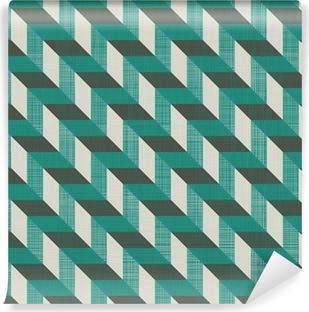 Vinyl Fotobehang Naadloze retro patroon met diagonale lijnen