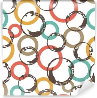Vinyl Fotobehang Naadloze vector patroon met kleurrijke cirkels.