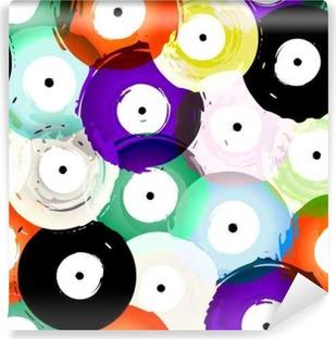 Vinyl Fotobehang Naadloze vinylplaten achtergrond patroon, vector illustratie
