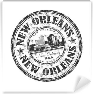 Vinyl Fotobehang New Orleans grunge rubberen stempel