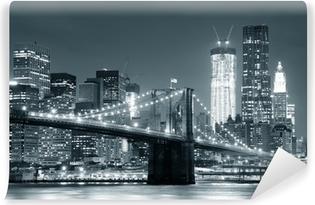Vinyl Fotobehang New York Brooklyn Bridge