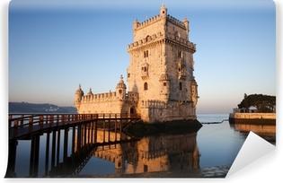 Vinyl Fotobehang Ochtend bij Toren van Belem in Lissabon