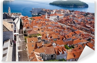 Vinyl Fotobehang Od stad stadsmuren, Dubrovnik, Kroatië
