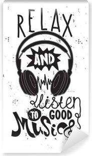 Vinyl Fotobehang Ontspannen en te luisteren naar goede muziek
