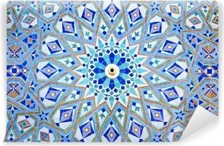 Vinyl Fotobehang Oosterse Mozaïek bij de moskee Hassan II in Casablanca, Marokko