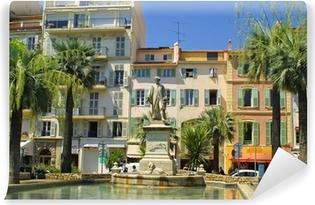Vinyl Fotobehang Op de strret van Cannes stad, Frankrijk