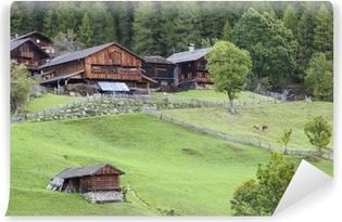 Vinyl Fotobehang Oud alp boerderij