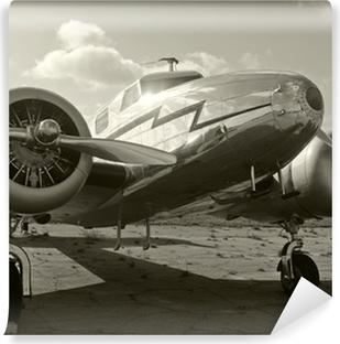 Vinyl Fotobehang Oud propellervliegtuig