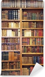 vinyl fotobehang oude boeken bibliotheek