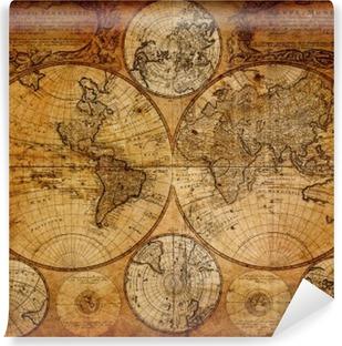 Vinyl Fotobehang Oude kaart (1746)