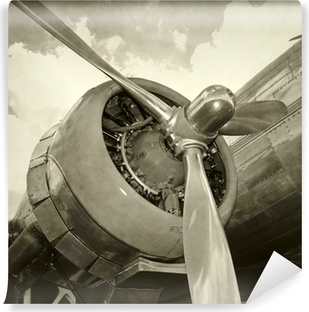 Vinyl Fotobehang Oude motor en propeller