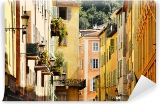 Vinyl Fotobehang Oude stad architectuur van Nice, aan de Franse Riviera