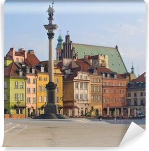 Vinyl Fotobehang Oude stadsplein, Warschau, Polen