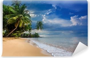 Vinyl Fotobehang Paradijs natuur, zee water, zomer en hotel huis op het tropische