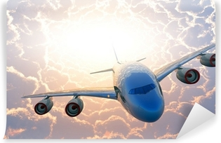 Vinyl Fotobehang Passagiersvliegtuig