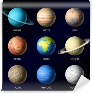 Vinyl Fotobehang Planeten van het zonnestelsel