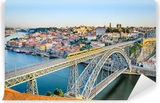Vinyl Fotobehang Porto met de Dom Luiz brug, Portugal
