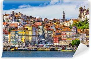 Vinyl Fotobehang Porto, Portugal Oude Skyline Stad aan de rivier de Douro