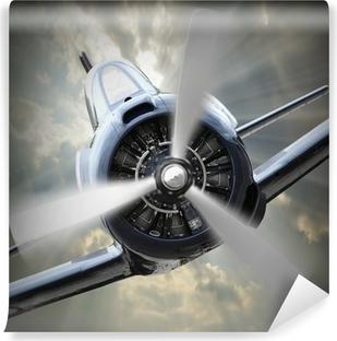 Vinyl Fotobehang Propellervliegtuig.