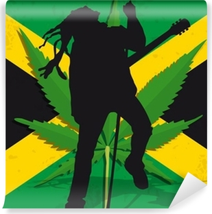 Vinyl Fotobehang Rasta Jamaïque