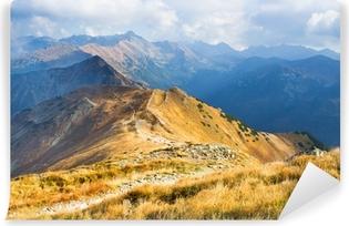 Vinyl Fotobehang Red Mountain Peaks, Tatra-gebergte, Polen
