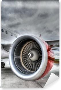 Vinyl Fotobehang Red Plane Engine